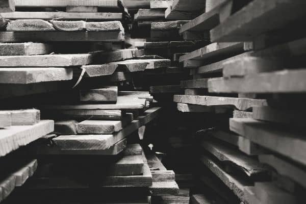 Stack of Roughsawn Lumber